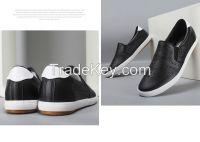 LEYO summer man shoes punch pu casual shoes fashion slip-on sneaker