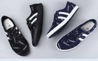 LEYO summer man shoes star print casual shoes lace-up sneaker