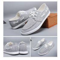 LEYO summer man shoes hemp casual shoes lace-up sneaker