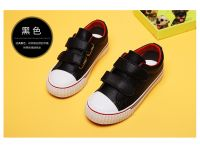 Children Casual Shoes Basic And Classic Washed Canvas Girl and Boy Lace-up Sneaker