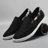 LEYO 2016 summer man shoes solid color navy or black textile casual shoes fashion slip-on sneaker