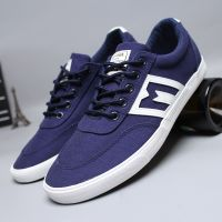 LEYO summer man shoes black and navy Canvas  casual shoes lace-up sneaker