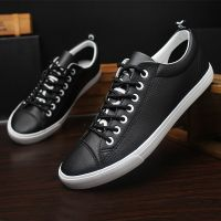 LEYO summer man shoes white black or navy color casual shoes fashion lace-up sneaker