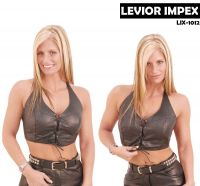 cowhide leather top