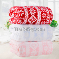 cheap fashion polyester flannel blankets