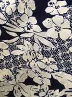 fahion design printed jacqure knitted fabric for summer dress