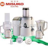 Multifunction electric fruit juicer with blender mixer
