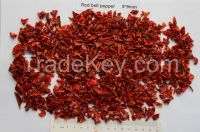 Dehydrated red bell pepper 9*9mm