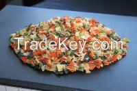 Dehydrated vegetables blend