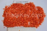 Dehydrated carrot granules 3*3*20mm