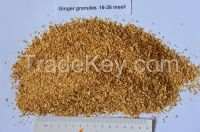 Dehydrated  ginger granules 16-26mesh