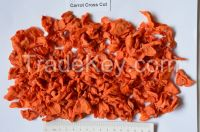 Dehydrated carrot cross cut