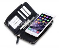 Stylish Design New products Fancy Wallet Case Cover with Zipper Fastener for iphoe 6s