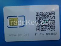 3G WCDMA test sim card for CMU 200