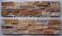 Gold Wood-Grain Ledges Stone