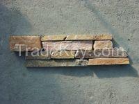 Gold Wood-Grain Ledges Stone