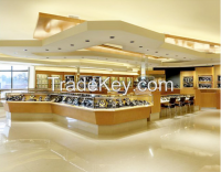 Modern design MDF wood glass jewelry display showcase