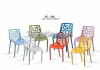 2016 dinning,leisure,outdoor,indoor use plastic modern leisure chair
