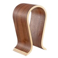 Bamboo Wood Omega Shape Headphone Headset Stand Holder for Beats and universal headphones