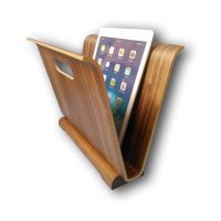 Bamboo Wood Magazine Book Brochure Holder Rack Organizer for office and home furniture_HENRYGUO 'at' WISPROD 'dot' COM