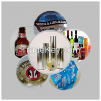 ink-keeping high strength metallized paper for beer label