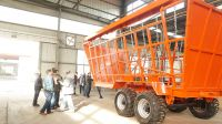12 tons sugar cane trailer for sugar cane transportation with ball head  hitched with tractor for africa