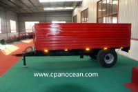 good quality 5 tons hydraulic rear dump tractor trailer with CE approval