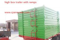 10 tons 3 way tipping farm tractor trailer for grain , wood chips, potatoes transportaion