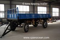 double axle 6 tons dump trailer for tractor
