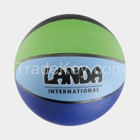 Colorful Rainbow Rubber Basketball, 8 Panels
