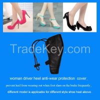 women's high heel shoe covers protection case for drive car shoes cover