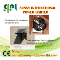 chinese (solar) 24 Hours running green energy machine Solar attic exhaust fan Solar powered ventilation for house