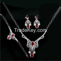 Necklace Earring Ring Bracelet Sterling Silver Jewelry Sets
