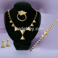 Necklace Earring Ring Bracelet Bridal Jewelry Sets Wholesale