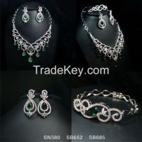 Necklace Earring Ring Bracelet CZ Jewelry Sets