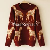 Knitted warm sweater