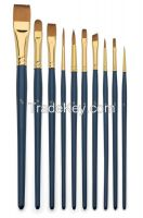 Bulk Paint Brushes for Kids Synthetic fibrt hair Paint Brushes for Oil Acrylic Watercolor