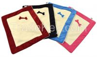 Premium Embroidered Sturdy Crate Mat, Crate Pad, Dog Blanket