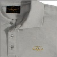 Slim Fit Polo Shirt with 9Ct Gold