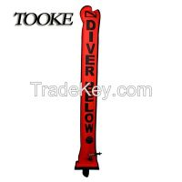 TOOKE SMB 120*18cm Surface Marker Inflatable Dive Buoy Dive Rite Scuba Diving Float Tube Red