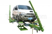 Auto body collision repair systems fram straightening and lifting