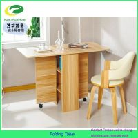 2017 new model drop leaf wooden folding dining table
