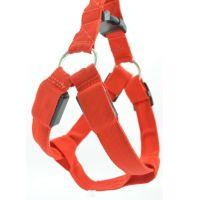 Wholesale Factory Price Nylon Flashing LED Dog harness LED Dog collar LED dog leash with 4 size