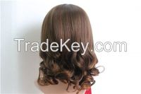 Middle Length Synthetic Fiber Hair Wigs