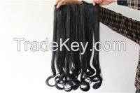 Fluffy bang of long curly hair