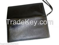 Brown & Black Leathertravel Holder Wallet: Passport Cum Credit Card Organizer
