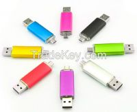 Smart Phone OTG USB Flash Drive 4GB 8GB 16GB 32GB Plastic Swivel USB Pendrive Thumbdrive USB Disk
