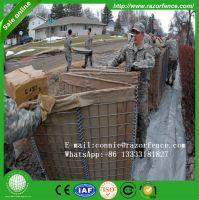 Galvanized iron wire hesco barrier hexagonal mesh gabion box