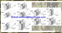Stocked welded mesh gabion hesco bassion/military barrier for sale