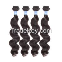 Popular 100% hair weft 8-32inches Brazilian body wave extension human